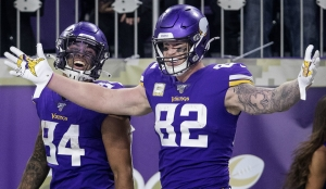Setzte den Schlusspunkt: Minnesotas Tight End Kyle Rudolph