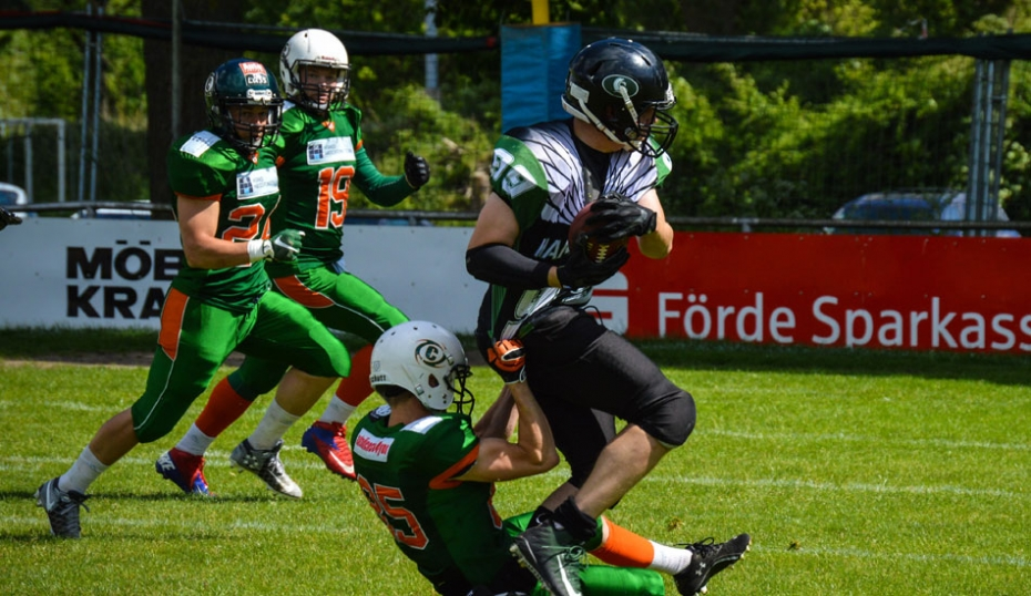 Linebacker Thomas Kern mit der Interception